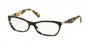 Prada PR 15PV Eyeglasses Eyeglasses - NAI1O1 Top Black/Medium Havana