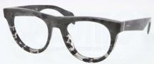 Prada PR 08QV Eyeglasses Eyeglasses - QE2101 Gray Transparent