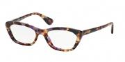 Prada PR 03QV Eyeglasses Eyeglasses - PDN101 Spotted Havana Pink