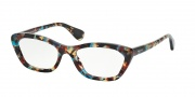 Prada PR 03QV Eyeglasses Eyeglasses - NAG1O1 Havana Spotted Blue