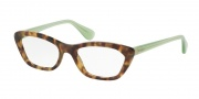 Prada PR 03QV Eyeglasses Eyeglasses - UEZ1O1 Spotted Brown Green