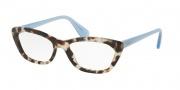 Prada PR 03QV Eyeglasses Eyeglasses - UAO101 Spotted Opal Brown