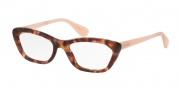 Prada PR 03QV Eyeglasses Eyeglasses - UE01O1 Spotted Brown Pink