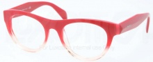 Prada PR 02QV Eyeglasses Eyeglasses - PDO101 Red Gradient Pink
