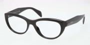 Prada PR 01QV Eyeglasses Eyeglasses - 1AB101 Black