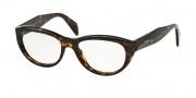 Prada PR 01QV Eyeglasses Eyeglasses - 2AU101 Havana