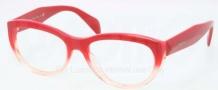 Prada PR 01QV Eyeglasses Eyeglasses - PDO101 Red Gradient Pink
