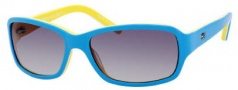 Tommy Hilfiger T_hilfiger 1148/S Sunglasses Sunglasses - 0HB6 Light Blue / White / Yellow / Dark Gray Lens