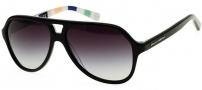 Dolce & Gabbana DG4201 Sunglasses Sunglasses - 27178G Top Black On Stripes / Gray Gradient Lens