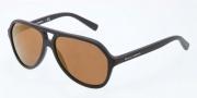 Dolce & Gabbana DG4201 Sunglasses Sunglasses - 1934F9 Matte Black / Brown Mirror Bronze Lens