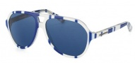 Dolce & Gabbana DG4201 Sunglasses Sunglasses - 272080 Stripes Blue / White / Blue Lens