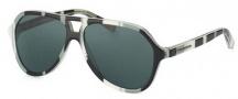 Dolce & Gabbana DG4201 Sunglasses Sunglasses - 272487 Stripes Black / Gray / White / Gray Lens