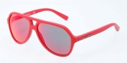 Dolce & Gabbana DG4201 Sunglasses Sunglasses - 588/6Q Matte Red / Red Multi-Layer Lens