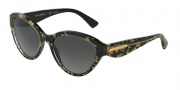 Dolce & Gabbana DG4199 Sunglasses Sunglasses - 2745T3 Leaf Gold on Black / Polarized Gray Gradient Lens
