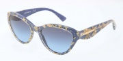 Dolce & Gabbana DG4199 Sunglasses Sunglasses - 27508F Leaf Gold on Azure / Blue Gradient Lens