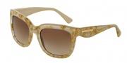 Dolce & Gabbana DG4197 Sunglasses Sunglasses - 274713 Leaf Gold on Sand / Brown Gradient Lens