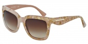 Dolce & Gabbana DG4197 Sunglasses Sunglasses - 274913 Leaf Gold on Powder / Brown Gradient Lens