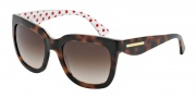 Dolce & Gabbana DG4197 Sunglasses Sunglasses - 287213 Havana/Pois Red/White / Brown Gradient