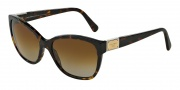 Dolce & Gabbana DG4195 Sunglasses Sunglasses - 502/T5 Havana / Polarized Brown Gradient Lens