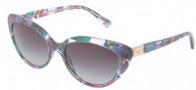 Dolce & Gabbana DG4194 Sunglasses Sunglasses - 27318G Marble Violet Green / Gray Gradient Lens