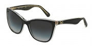 Dolce & Gabbana DG4193 Sunglasses Sunglasses - 27378G Top Black / Glitter Gold / Gray Gradient Lens