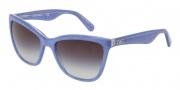 Dolce & Gabbana DG4193 Sunglasses Sunglasses - 27418G Glitter Blue / Gray Gradient Lens