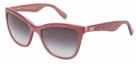 Dolce & Gabbana DG4193 Sunglasses Sunglasses - 27398G Glitter Burgundy / Gray Gradient Lens