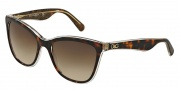 Dolce & Gabbana DG4193 Sunglasses Sunglasses - 273813 Top Havana / Glitter Gold / Brown Gradient Lens