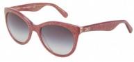 Dolce & Gabbana DG4192 Sunglasses Sunglasses - 27398G Glitter Burgundy /Gray Gradient Lens