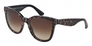 Dolce & Gabbana DG4190 Sunglasses Sunglasses - 199513 Leopard / Brown Gradient Lens
