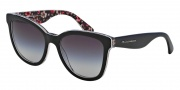 Dolce & Gabbana DG4190 Sunglasses Sunglasses - 27798G Top Black / Flower Black / Gray Gradient Lens