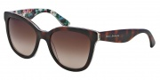 Dolce & Gabbana DG4190 Sunglasses Sunglasses - 278113 Top Havana on White Flowers / Brown Gradient Lens