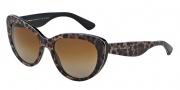 Dolce & Gabbana DG4189 Sunglasses Sunglasses - 1995T5 Leopard / Polarized Brown Gradient Lens