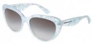 Dolce & Gabbana DG4189 Sunglasses Sunglasses - 27298G Green Lace / Gray Gradient Lens