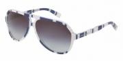 Dolce & Gabbana DG4182P Sunglasses Sunglasses - 27208G Stripes Blue / White / Grey Gradient Lens