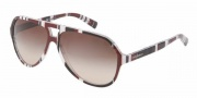 Dolce & Gabbana DG4182P Sunglasses Sunglasses - 272113 Stripes Brown / Black / White / Brown Gradient Lens