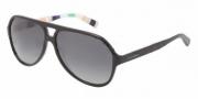 Dolce & Gabbana DG4182P Sunglasses Sunglasses - 2717T3 Top Black on Stripes / Polarized Grey Gradient Lens