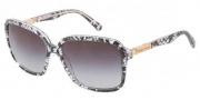 Dolce & Gabbana DG4172 Sunglasses Sunglasses - 19018G Black Lace / Gray Gradient Lens
