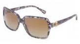 Dolce & Gabbana DG4164P Sunglasses Sunglasses - 2654T5 Grey Marble / Polarized Brown Gradient Lens