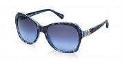 Dolce & Gabbana DG4163P Sunglasses Sunglasses - 26578F Leopard Blue / Grey Blue Gradient Lens