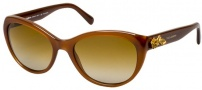 Dolce & Gabbana DG4160 Sunglasses Sunglasses - 2682T5 Opal Caramel / Polarized Brown Gradient Lens