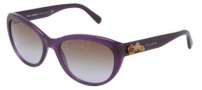 Dolce & Gabbana DG4160 Sunglasses Sunglasses - 267768 Opal Violet / Brown Gradient Lens