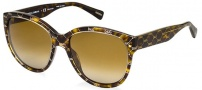 Dolce & Gabbana DG4159P Sunglasses Sunglasses - 2660T5 Hazelnut on Havana / Polarized Brown Gradient Lens