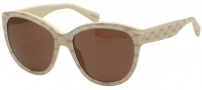 Dolce & Gabbana DG4159P Sunglasses Sunglasses - 266673 Gold on Beige / Brown Lens