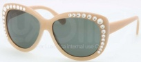 Tory Burch TY7057B Sunglasses Sunglasses - 614/71 Ivory / Green