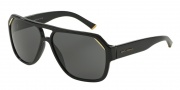 Dolce & Gabbana DG4138 Sunglasses Sunglasses - 501/87 Shiny Black / Grey Lens
