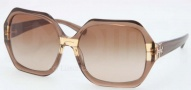 Tory Burch TY7051 Sunglasses Sunglasses - 112513 Brown Gold Striped / Brown Gradient