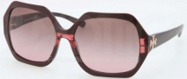 Tory Burch TY7051 Sunglasses Sunglasses - 112714 Burgundy Striped / Brown Rose