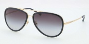 Tory Burch TY6025 Sunglasses Sunglasses - 286/11 Gold Navy / Grey Gradient