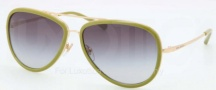 Tory Burch TY6025 Sunglasses Sunglasses - 439/11 Gold Lime / Gray Gradient